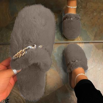 Plush Chain Cute Home Slippers