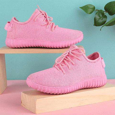 *Women Fly Woven Fabric Sneakers Casual Comfort Sport Shoes