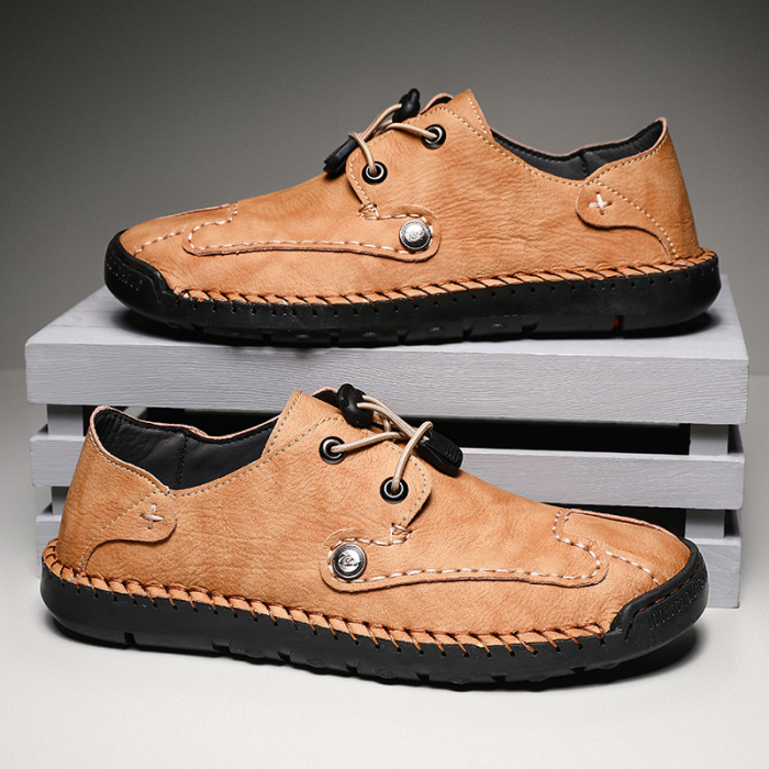 Simple Bean Shoes Mens Microfiber Shallow Mens Shoes