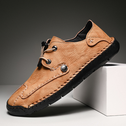 Simple Bean Shoes Mens Microfiber Shallow Mens Shoes