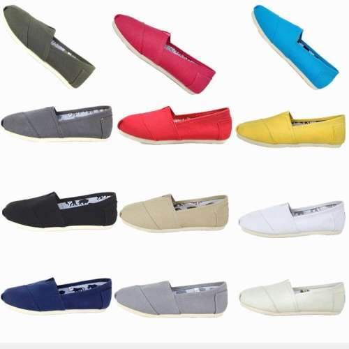 *Breathable Canvas Shoes Multi-color Casual Large Size(36-45) Flat Loafers