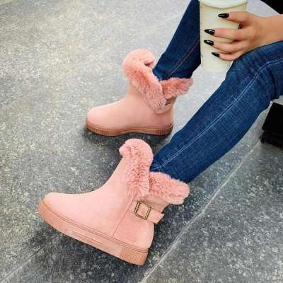 Winter Buckle Comfy Sole Boots
