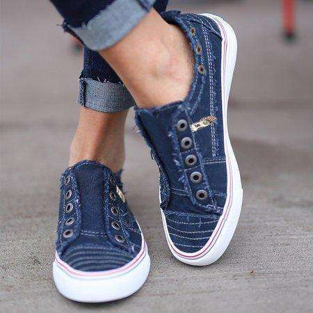 *Women Zipper Daily Canvas Slip-on Athletic Sneakers