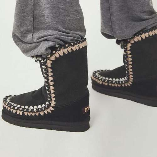 NEW! Women's Flat Round Toe Winter Boots With Pearl Polka Dot shoes