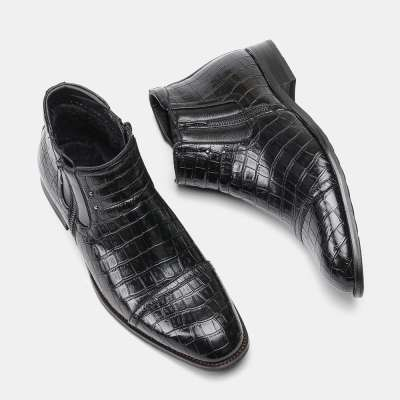 Men Handmade Leather Bordered Boots