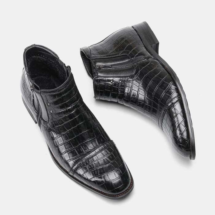 Men Handmade Leather Bordered Boots