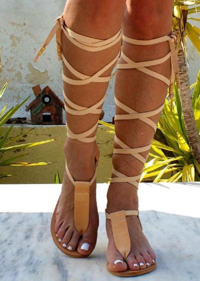 Open-Toe Strap Roman Wind Straps Toe Flat Sandals