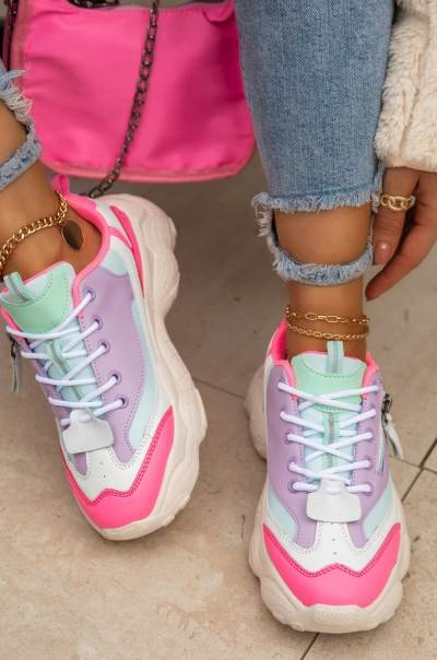 Daily Block Heel Sneakers