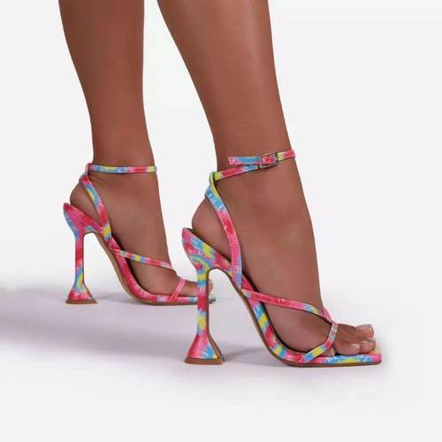 Ladies Close Pointed Toe Heel Sandals
