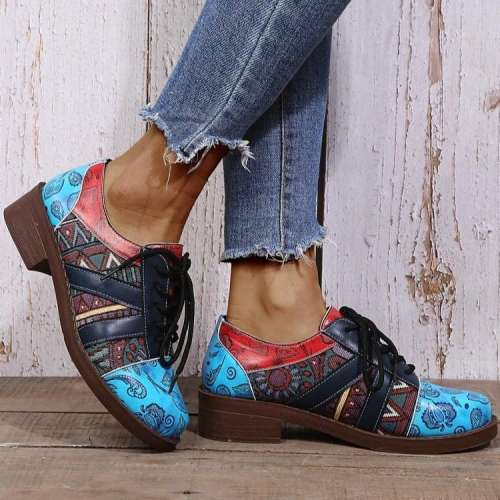 Floral Pattern Metal Chunky Boots