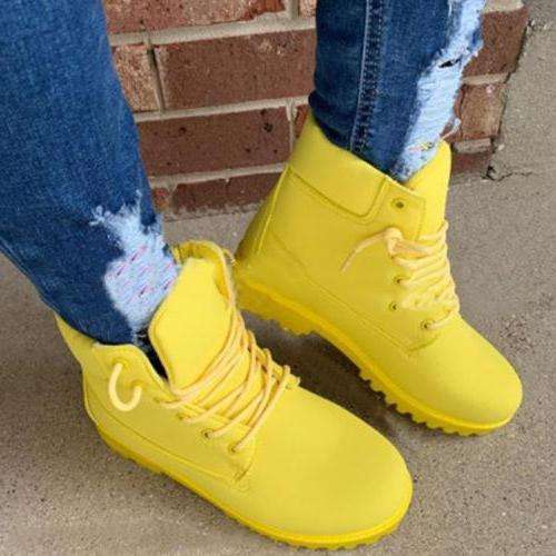 Waterproof Lacing Winter Boots