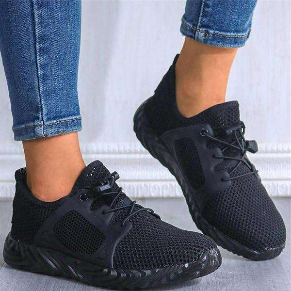 Mesh Perforated Non-Slip Slip-On Sneakers