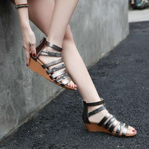 Ladies Casual Rome Wedge Sandals
