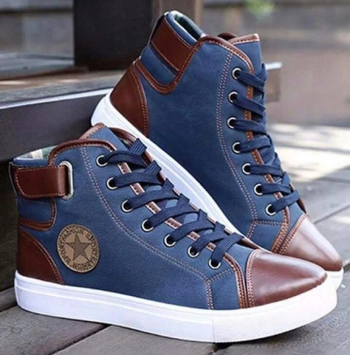 High Top Canvas Men Casual Shoes