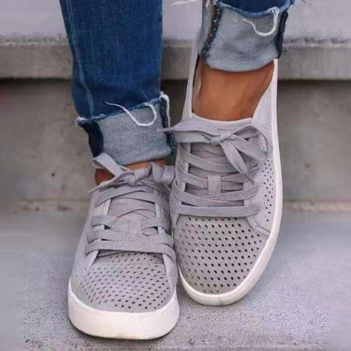 Women's Lace-up Flats Sneakers
