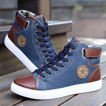 High Top Canvas Men Casual Shoes