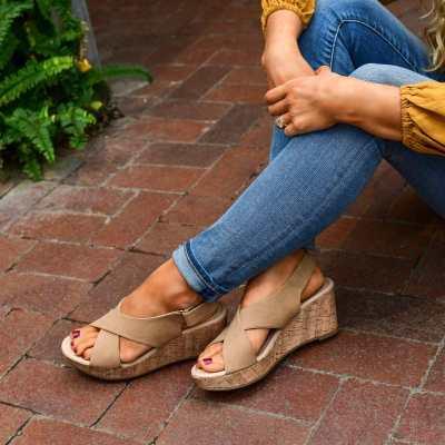 Comfy Crisscross Wedge Sandals