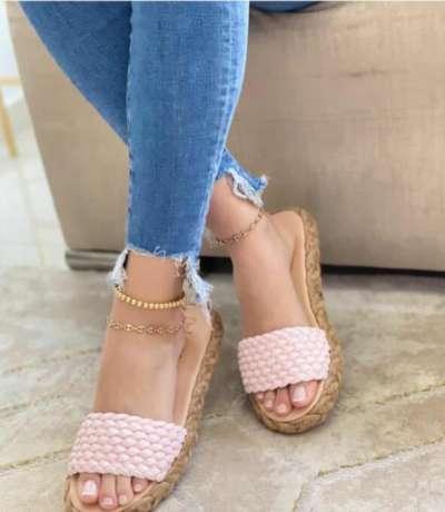 **Women Casual Simple Pu Slip On Flat Slippers