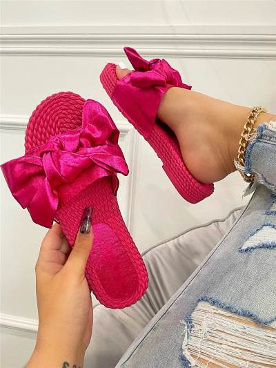 Women Casual Simple Slip On Flat Slippers