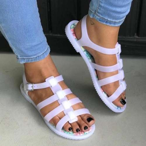 Clear Jelly Gladiator Sandals
