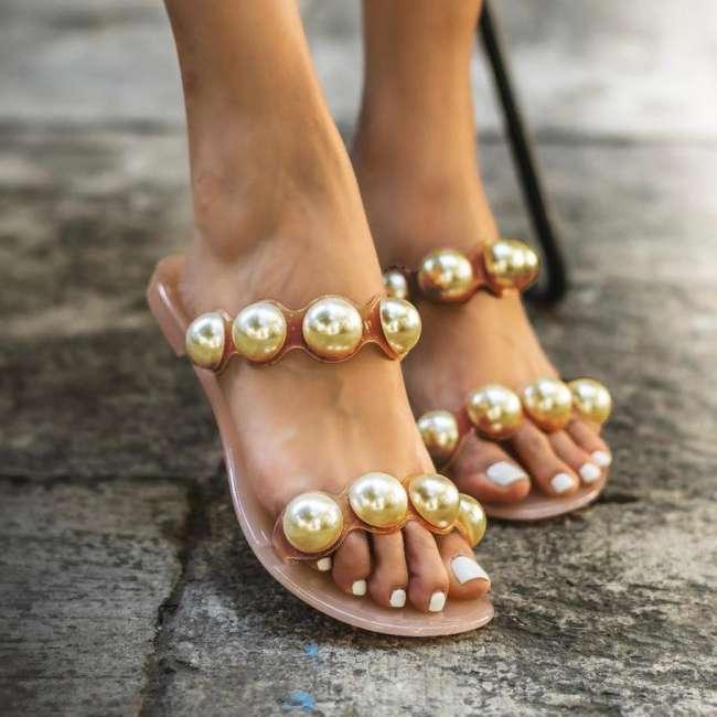 PU Sexy Flat Sandals
