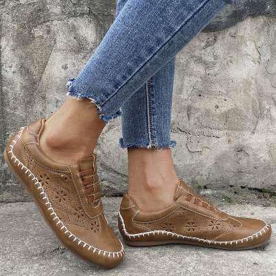Women's Hollow-out Closed Toe Flat Heel Flats