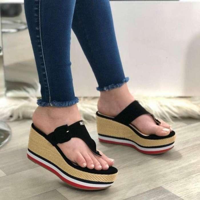 Women's Fashion Soft Slope Heel Slippers