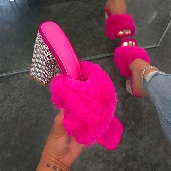 Women's Fashion Heel Slippers