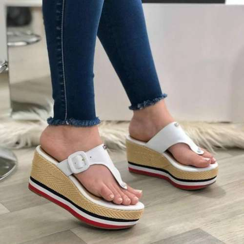 Women's Fashion Soft Slope Heel Slippers