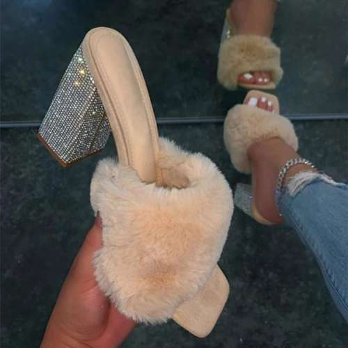 Women's Fashion Heel Slippers
