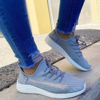 Sporty Breathable Lace-Up Sneakers