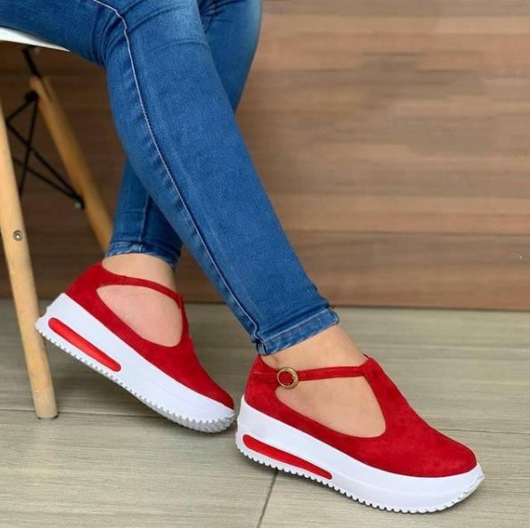 Women's Fashion Platform T-Shaped Design Casual Sandals