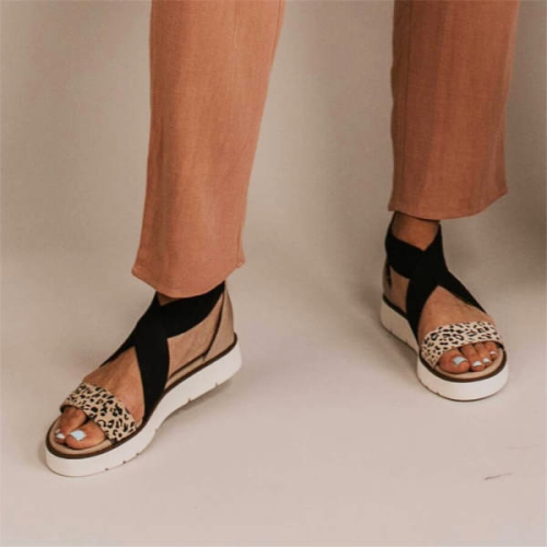 Fashion Retro Wild Leopard Sandals