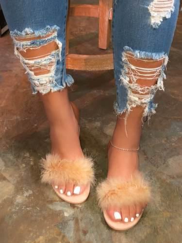 Ladies Fashion Flat Slippers