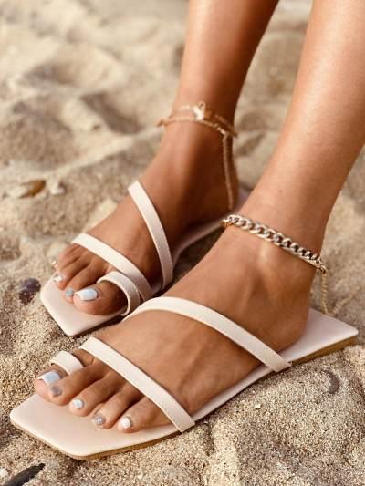 Wrap Around Flat Slippers