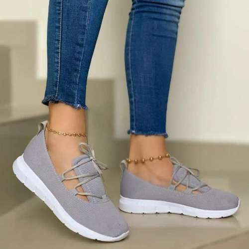 Women's Comfy Lace-up Sports Knit Sneakers