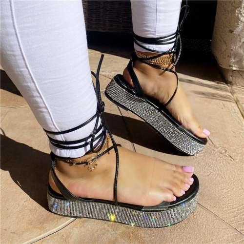 Destiny Rhinestone Platform Sandals