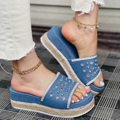 Ladies Jean Sandals