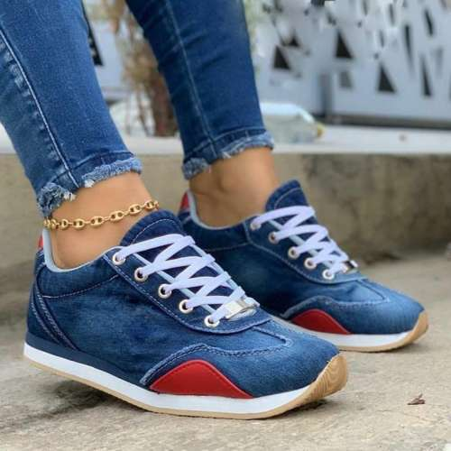 Hot Denim Lacing Sport Shoes
