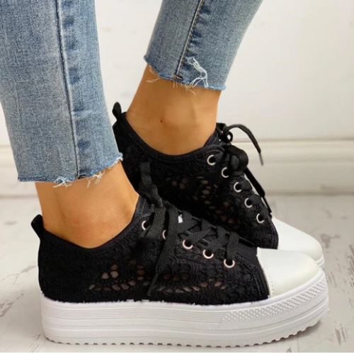 New Fashion Canvas Sneakers Women's Casual Design  Shoes