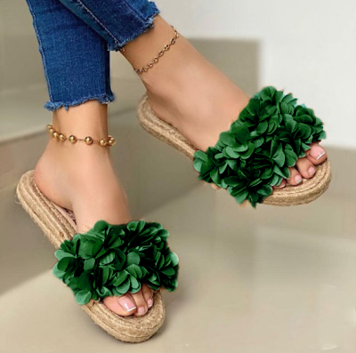Women's Fashion Soft Slippers With Woven Sole