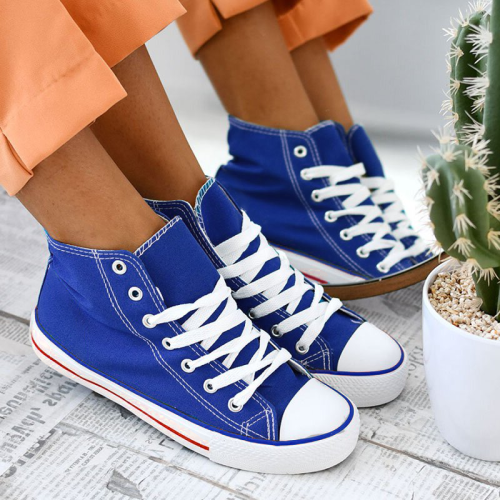 Women's Stylish Lace Up Canvas Sneakers