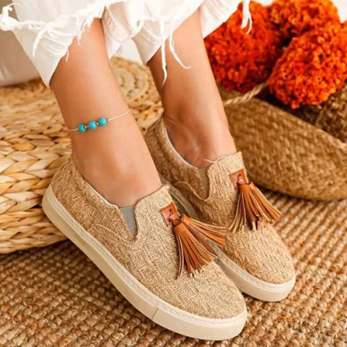 Beige Flat Heel All Season Flats Shoes