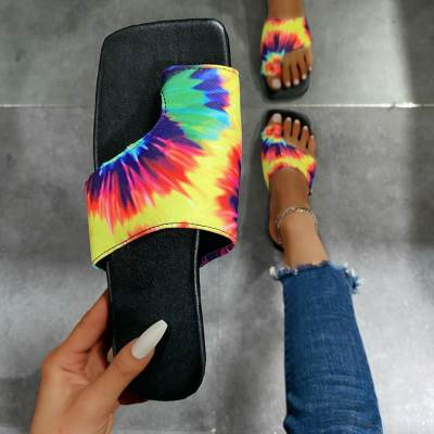 Colour Fashion Solid Color Out Door Plush Slippers
