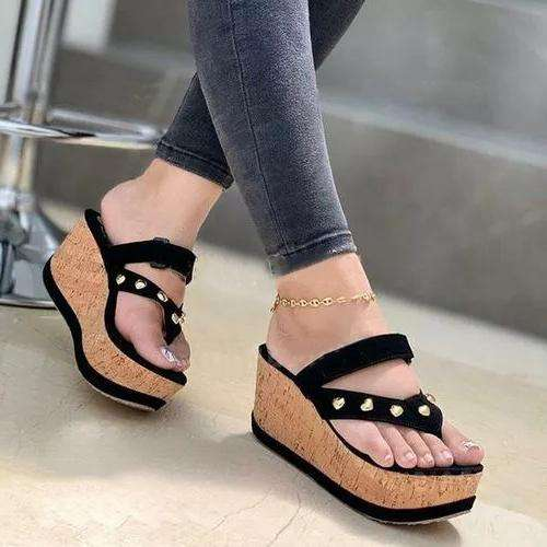 **Women's Peop Toe Wedge Sandals
