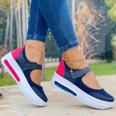 **Women Casual Fashion Comfortable Pu Magic Tape Platform Sandals