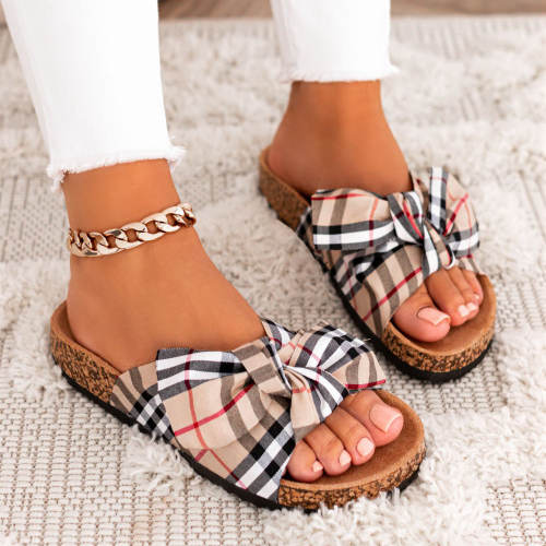 Women Comfy Classic Plaid Summer Sandals