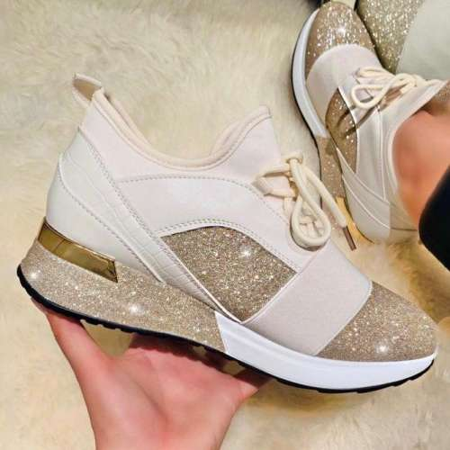 Women Comfotable Fashion Glitter Sleek Sneakers