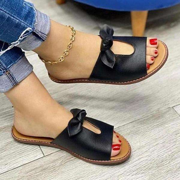 Women's Casual Bow Flat Slippers