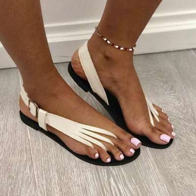 Roman Flat Heel Sandals